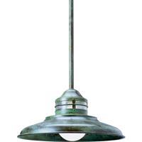 Arroyo Craftsman NSH-17CS-VP Newport 1 Light 17 inch Verdigris Patina Pendant Ceiling Light in Clear Seedy