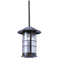 Arroyo Craftsman NSH-9LCS-BZ Newport 1 Light 9 inch Bronze Pendant Ceiling Light in Clear Seedy