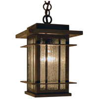 Arroyo Craftsman OPH-9RM-MB Oak Park 1 Light 9 inch Mission Brown Pendant Ceiling Light in Rain Mist