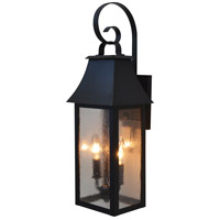 Arroyo Craftsman ORB-8CS-BZ Orpington 2 Light 20 inch Bronze Outdoor Wall Mount in Clear Seedy
