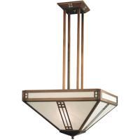 Arroyo Craftsman Prairie 4 Light Pendant in Antique Copper PCH-18WO-AC