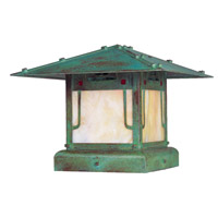 Pagoda 1 Light 10 inch Verdigris Patina Column Mount