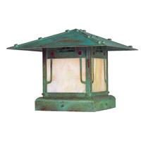 Arroyo Craftsman PDC-12GRC-VP Pagoda 1 Light 10 inch Verdigris Patina Column Mount