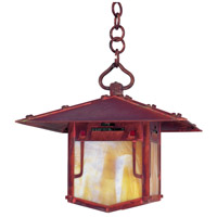 Arroyo Craftsman PDH-12GRC-RC Pagoda 1 Light 12 inch Raw Copper Pendant Ceiling Light