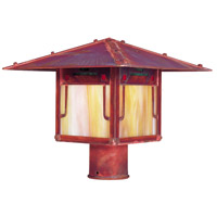 Arroyo Craftsman PDP-12GRC-RC Pagoda 1 Light 11 inch Raw Copper Post Mount