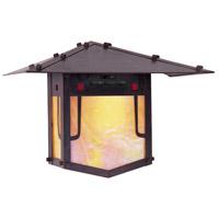 Arroyo Craftsman PDW-9GRC-BZ Pagoda 1 Light 9 inch Bronze Wall Mount Wall Light