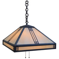 Arroyo Craftsman PH-18OF-MB Prairie 4 Light 18 inch Mission Brown Pendant Ceiling Light in Off White