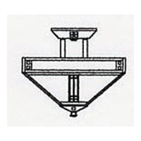 Arroyo Craftsman PIH-12OF-BZ Prairie 4 Light 12 inch Bronze Semi-Flush Mount Ceiling Light in Off White PIH-12_line.jpg thumb
