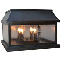 Arroyo Craftsman PRC-15CS-BZ Providence 4 Light 11 inch Bronze Column Mount in Clear Seedy thumb