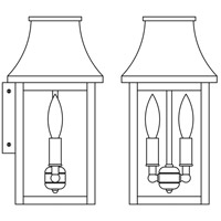 Arroyo Craftsman PRW-7CLR-AC Providence 2 Light 14 inch Antique Copper Outdoor Wall Mount in Clear