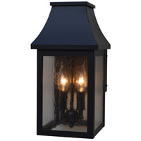Arroyo Craftsman PRW-7CS-BK Providence 2 Light 14 inch Satin Black Outdoor Wall Mount in Clear Seedy thumb