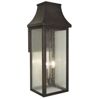 Arroyo Craftsman PRW-9CS-MB Providence 2 Light 24 inch Mission Brown Outdoor Wall Mount in Clear Seedy