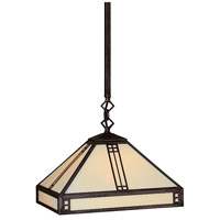 Arroyo Craftsman PSH-12CR-MB Prairie 1 Light 12 inch Mission Brown Pendant Ceiling Light in Cream