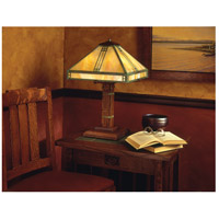 Arroyo Craftsman PTL-15AM-RC Prairie 23 inch 40 watt Raw Copper Table Lamp Portable Light in Almond Mica PTL-15GW-VP-env.jpg thumb
