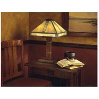 Arroyo Craftsman PTL-15GW-VP Prairie 23 inch 40 watt Verdigris Patina Table Lamp Portable Light in Gold White Iridescent