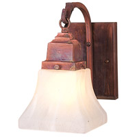 Arroyo Craftsman RB-1-RC Ruskin 1 Light 5 inch Raw Copper Wall Mount Wall Light Glass Sold Separately