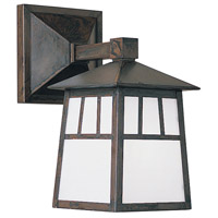 Arroyo Craftsman RB-10WWO-BZ Raymond 1 Light 10 inch Bronze Wall Mount Wall Light in White Opalescent