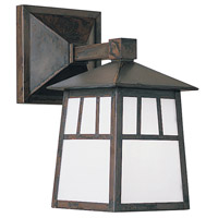 Arroyo Craftsman RB-6WRM-BK Raymond 1 Light 10 inch Satin Black Outdoor Wall Mount in Rain Mist thumb