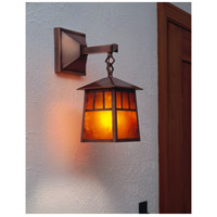 Arroyo Craftsman RB-8M-P Raymond 1 Light 19 inch Pewter Outdoor Wall Mount in Amber Mica RB-8M-AC-env.jpg thumb