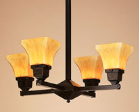 Ruskin 4 Light 24 inch Bronze Chandelier Ceiling Light, Glass Sold Separately