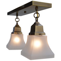 Arroyo Craftsman RCM-2-BZ Ruskin 2 Light 15 inch Bronze Flush Mount Ceiling Light, Glass Sold Separately photo thumbnail