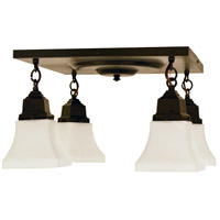 Arroyo Craftsman RCM-4-BZ Ruskin 4 Light 16 inch Bronze Flush Mount Ceiling Light Glass Sold Separately
