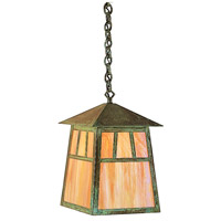 Arroyo Craftsman RH-10WO-MB Raymond 1 Light 10 inch Mission Brown Pendant Ceiling Light in White Opalescent thumb