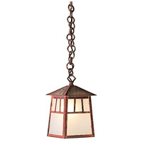 Arroyo Craftsman RH-6GW-MB Raymond 1 Light 5 inch Mission Brown Pendant Ceiling Light in Gold White Iridescent thumb