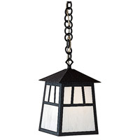 Arroyo Craftsman RH-8WO-BK Raymond 1 Light 8 inch Satin Black Pendant Ceiling Light in White Opalescent