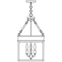 Arroyo Craftsman ROH-12CLR-BZ Rochester 3 Light 12 inch Bronze Pendant Ceiling Light in Clear thumb