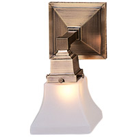 Arroyo Craftsman RS-1-AB Ruskin 1 Light 5 inch Antique Brass Wall Mount Wall Light Glass Sold Separately