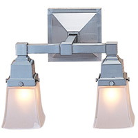 Arroyo Craftsman RS-2-P Ruskin 2 Light 13 inch Pewter Wall Mount Wall Light Glass Sold Separately