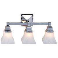 Arroyo Craftsman RS-3-S Ruskin 3 Light 21 inch Slate Wall Mount Wall Light, Glass Sold Separately thumb