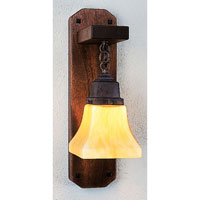 Ruskin 1 Light 5 inch Mission Brown Wall Mount Wall Light