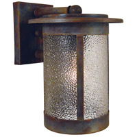Arroyo Craftsman SAB-7DD-RC Santorini 1 Light 10 inch Raw Copper Outdoor Wall Mount