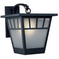 Savannah 1 Light 11 inch Satin Black Wall Mount Wall Light in Frosted