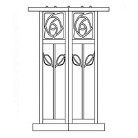 Arroyo Craftsman SCC-12F-BK Saint Clair 1 Light 13 inch Satin Black Column Mount in Frosted SCC-12_line.jpg thumb