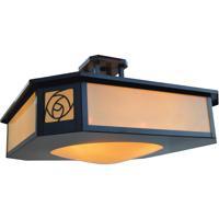 Arroyo Craftsman SCCM-21CR-BZ Saint Clair 4 Light 22 inch Bronze Semi-Flush Mount Ceiling Light in Cream