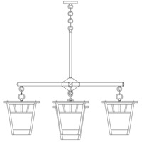 Savannah 5 Light 41 inch Satin Black Foyer Chandelier Ceiling Light in Almond Mica