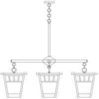 Savannah 4 Light 41 inch Satin Black Foyer Chandelier Ceiling Light in Almond Mica