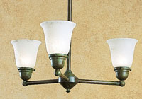 Arroyo Craftsman SCH-3U-VP Simplicity 3 Light 22 inch Verdigris Patina Dining Chandelier Ceiling Light