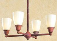 Arroyo Craftsman Simplicity 4 Light Dining Chandelier in Raw Copper SCH-4U-RC