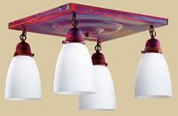Arroyo Craftsman Simplicity 4 Light Flush Mount in Raw Copper SCM-4-RC