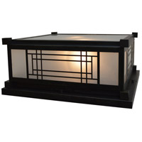 Arroyo Craftsman SDC-13F-BZ Scottsdale 2 Light 7 inch Bronze Column Mount in Frosted