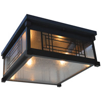 Arroyo Craftsman SDCM-13CS-BZ Scottsdale 2 Light 13 inch Bronze Flush Mount Ceiling Light in Clear Seedy