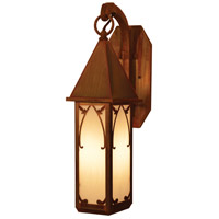 Arroyo Craftsman SGB-7WO-RC Saint George 1 Light 7 inch Raw Copper Wall Mount Wall Light in White Opalescent