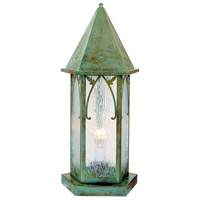 Saint George 1 Light 24 inch Verdigris Patina Column Mount in Rain Mist