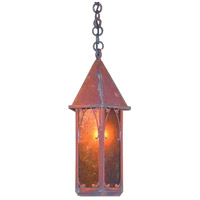 Arroyo Craftsman SGH-7M-RC Saint George 1 Light 7 inch Raw Copper Pendant Ceiling Light in Amber Mica