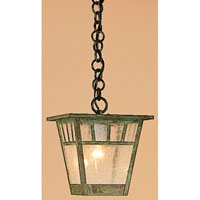 Savannah 1 Light 8 inch Verdigris Patina Pendant Ceiling Light in Clear Seedy