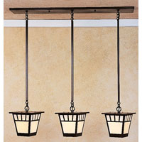 Savannah 3 Light 36 inch Bronze Pendant Ceiling Light in Off White